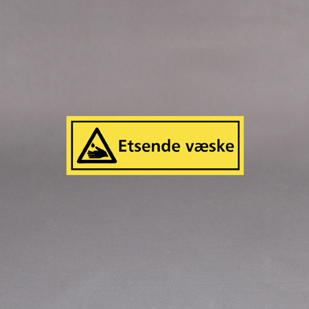 Advarselsetikett 30 x 10cm