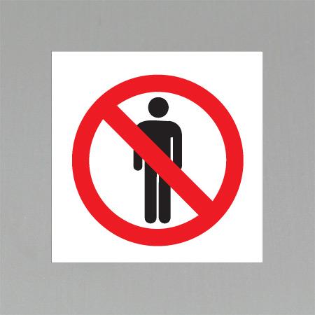 Forbudsetikett 10x10cm