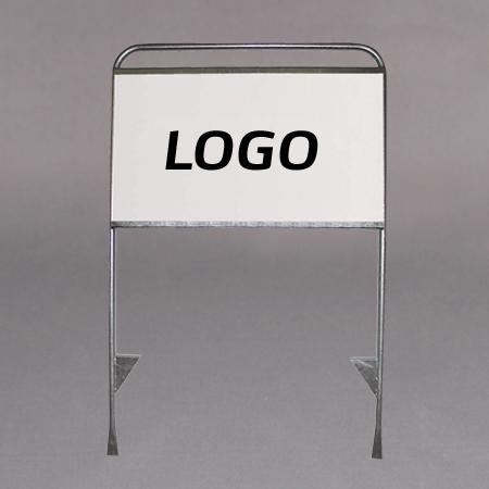 Med plate til tekst/ logo