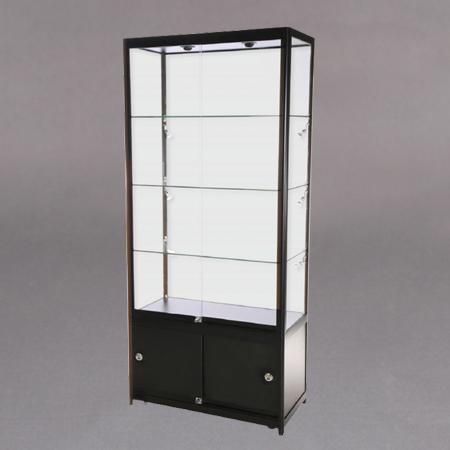90x200x45 3x7mm glasshylle,lås