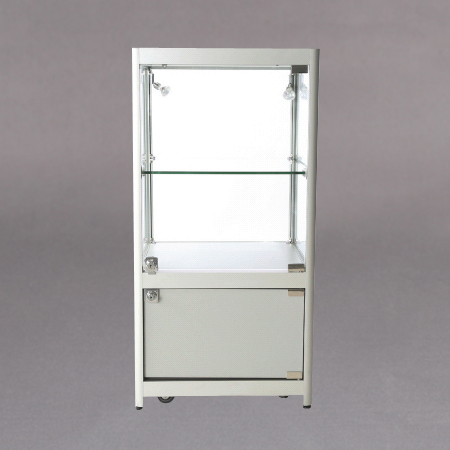 45x90x45 1x7mm glasshylle,lås