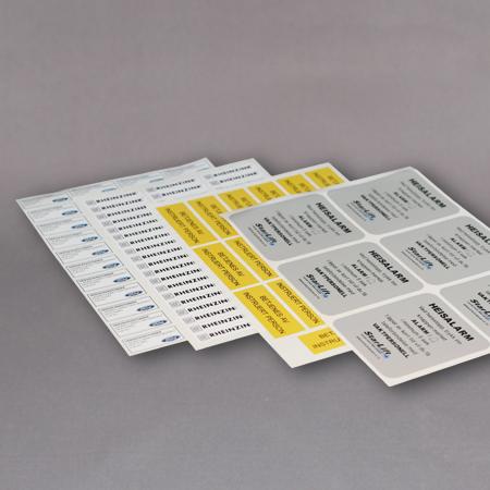 Etiketter på A4 ark