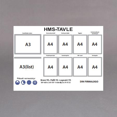 Hvit Alum.8xA4-1xA3-1xA3list