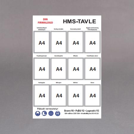 Hvit Alum.12 x A4 rammer